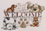 MarNic Designs Dogs Welcome 126w x 95h