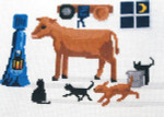 14-1145 Evening Barn Check 124 x 81 Lynn's Prints/Diane Graebner