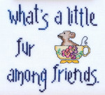 14-1342 What's A Little Fur Amoung Friends  69w x 67h MarNic Designs