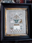 14-1296 Old White Farmhouse Sampler Includes Classic Colorworks threads 105w x 156h Stacy Nash Primitives