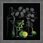 RL1240 Riolis Cross Stitch Kit Still Life with Martini