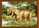 RL1258  Riolis Cross Stitch Kit Horse with Foal