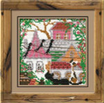 RL612 Riolis Cross Stitch Kit City & Cats - Summer