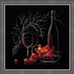 RL1239 Riolis Cross Stitch Kit Still Life with Red Wine