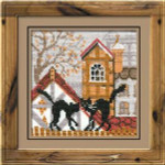 RL613 Riolis Cross Stitch Kit City & Cats - Autumn