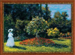 RL1225 Riolis Cross Stitch Kit Woman in the Garden  after Monet's painting