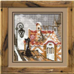 RL610 Riolis Cross Stitch Kit City & Cats - Winter