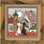 RL611 Riolis Cross Stitch Kit City & Cats - Spring