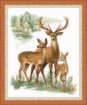RL1370 Riolis Cross Stitch Kit Deers