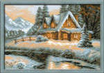 RL1080 Riolis Cross Stitch Kit Winter View