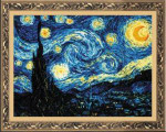 RL1088 Riolis Cross Stitch Kit Starry Night  after Van Gogh's painting