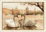 RL1364 Riolis Cross Stitch Kit Swans - Prague