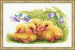 RL1322 Riolis Cross Stitch Kit Funny Ducklings