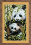 RL1159 Riolis Cross Stitch Kit Panda with Young