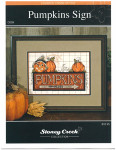 09-1196 Pumpkin Sign (Chartpack) by Stoney Creek Collection