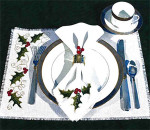 09-1755 Holly Table Setting by Stoney Creek Collection Table Setting napkin: 69w X 56h placemat: 69w X 158h.