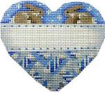 CT-1227 First Christmas Bunnies Heart Blue Associated Talents