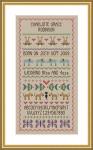 Little Dove Designs LilDD24 Baby Girl Birth Sampler