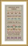 Little Dove Designs LilDD23 Baby Boy Birth Sampler