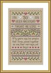 Little Dove Designs LilDD05 Golden Anniversary Sampler