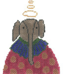JC230 Elephant Ornament 4.5X4.5 18 Mesh Cooper Oaks Designs
