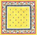 LR355 Yellow Pillow Top 14X14 13 Mesh Cooper Oaks Designs