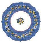 LR394 Royal Blue Plate 9.5 Dia 13 Mesh Cooper Oaks Designs