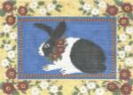 LR395 Floral Framed Bunny 10X14 13 Mesh Cooper Oaks Designs