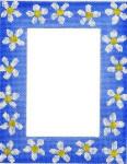 CBC810B Blue Daisy Frame 7/9w4/6 13 Mesh Cooper Oaks Designs