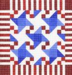 CBC806 Stars & Stripes Quilt 8.75X8.75 13 Mesh Cooper Oaks Designs