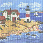 MML913 Cottage w/Lighthouse 5X5 18 Mesh Cooper Oaks Designsn