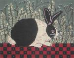WK2052 Checkerboard Bunny 12X9.5 13 Mesh Cooper Oaks Designs