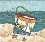 WK2001 Sailing By the Sea 9X9 18 Mesh Cooper Oaks Designs