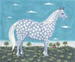 WK2038 The Dappled Horse 12X9.5 13 Mesh Cooper Oaks Designs