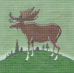 WK2056 Folk Moose 10X10 13 Mesh Cooper Oaks Designs