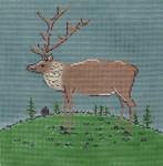 WK2055 Folk Elk 10X10 13 Mesh Cooper Oaks Designs