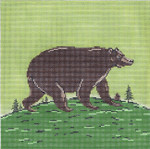 WK2058 Folk Bear 10X10 13 Mesh Cooper Oaks Designs