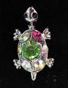 Elizabeth Turner Needle Buddy Turtle Multi Color Stones