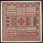 Sampler Cove Designs SC1013 Rhapsody in Red Ribbon Sampler