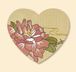 026 Red Thread Designs Rose Heart*, 8 x 7, mesh 18, sandstone,T. Enfield Includes Stitch Guide