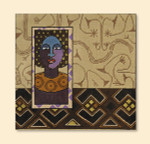 148 Red Thread Designs African Wbman*,9 x v8.5, mesh 18, sandstone, T. Enfield