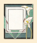 036 Red Thread Designs Calla Lily Frame, 10 x1 2, mesh 18, white,T. Enfield Includes Stitch Guide