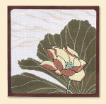 063 Red Thread Designs Lotus Square, 12 x 12 mesh 13, white,T. Enfield Stitch Guide Included