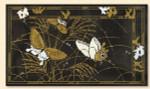 135B Red Thread Designs Butterfly Garden II, 18 x 10, mesh 18, sandstone, T. Enfield On Sandstone Not Black
