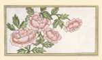 139 Red Thread Designs English Roses on Eggshell, 16 x 9, mesh 18, Eggshell, P. Juell