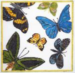 Waterweave C171 Butterflies 18 mesh  8.25 x 8.25