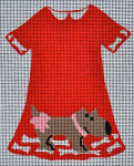 Waterweave CO783 Doggy Dress 18 mesh 4.25 x 5.5 hanger and stitch guide included