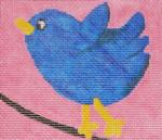 Waterweave CO1002 Blue Bird on a Wire 10 mesh 7 x 6