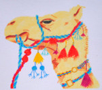 Waterweave CO1225 Tasseled Camel 18 Mesh 8 x 7 stitch guide available