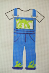 Waterweave CO1404 Gecko Overalls 18 mesh 4 x 6 hanger and stitch guide included
